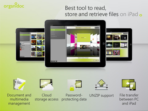 OrganiDoc HD – Best ipad App for File Management and PDF View