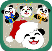 Christmas, Hanukkah and New Year Panda Emoticons & Smileys + Emoji App Review