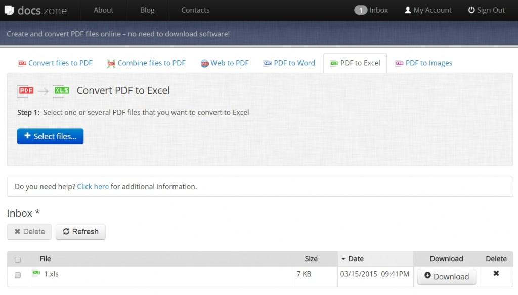 convert PDF to excel 3