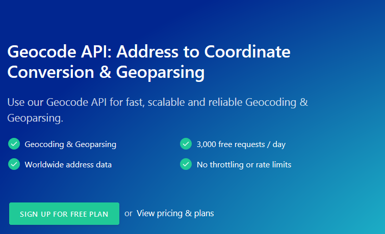 Geocode API – The Ultimate API for Geoparsing and Geocoding